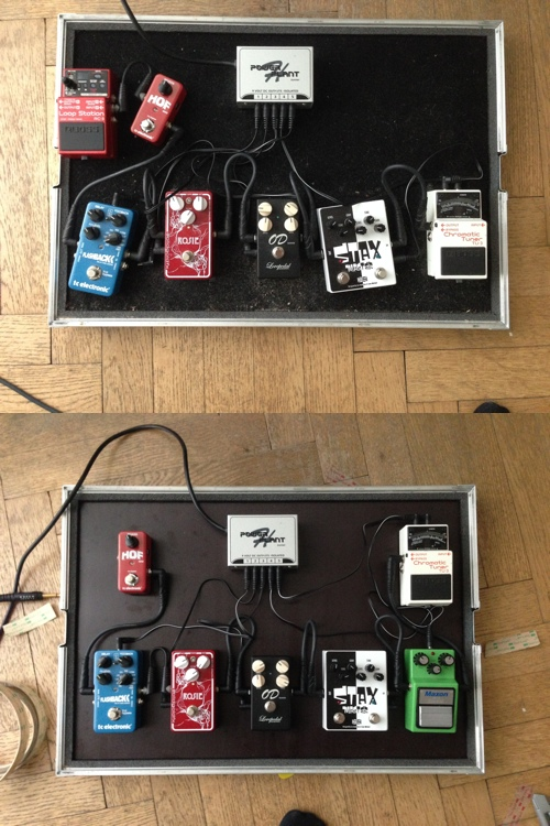 Pedalboard before and after